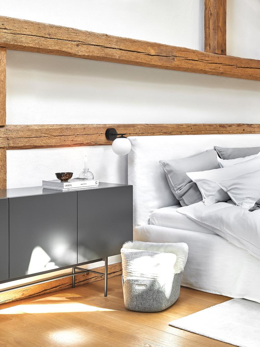 Modernes Sideboard Anders, Korpus: Mitteldichte Holzfaserpla, Füße: Metall, pulverbeschichtet, Korpus: GrauFüße: Grau, matt, 160 x 80 cm