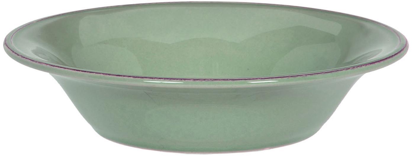 Boles Constance, 2uds., estilo rústico, Cerámica, Verde salvia, Ø 19 x Al 5 cm