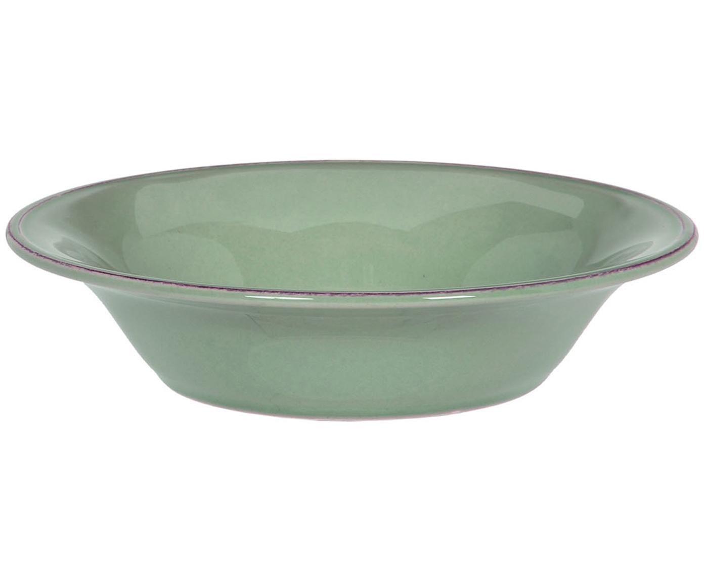 Ciotola verde salvia Constance 2 pz, Ceramica, Verde salvia, Ø 19 x Alt. 5 cm