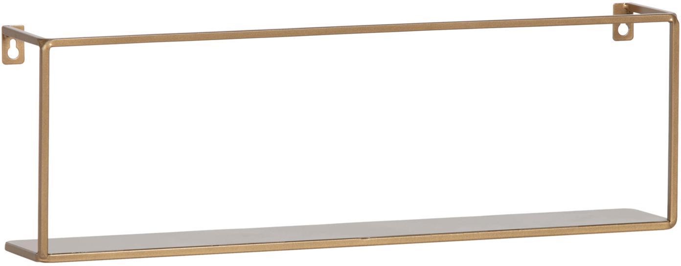 Półka ścienna metal Meert, Metal malowany proszkowo, Odcienie mosiądzu, S 50 x W 16 cm