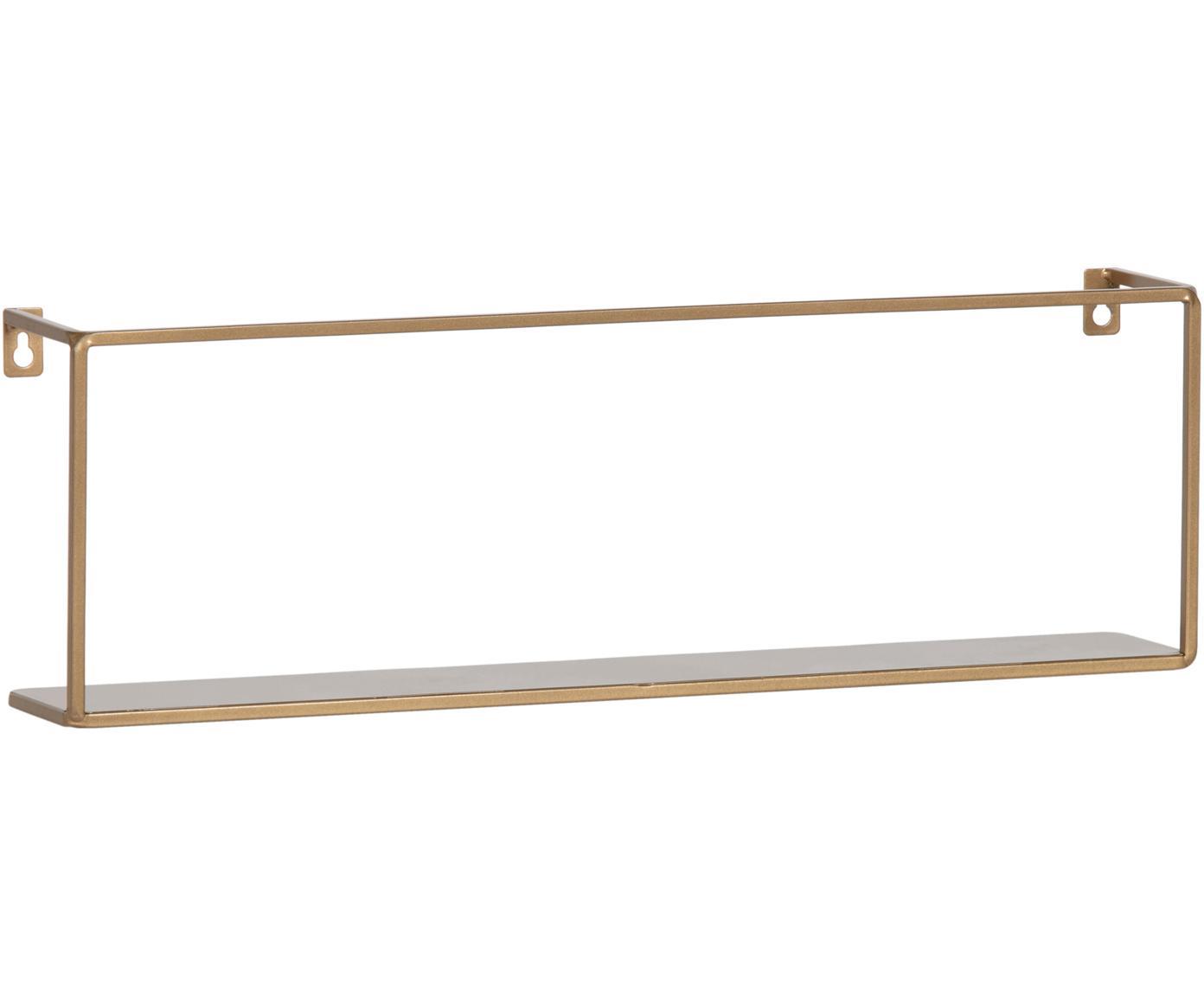 Metalen wandrek Meert, goudkleurig, Gecoat metaal, Messingkleurig, 50 x 16 cm