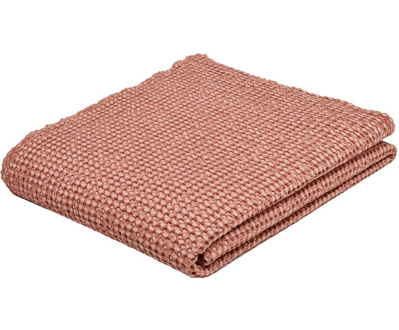 Copriletto in cotone rosa chiaro Vigo, 100% cotone, Rosa chiaro, Larg. 220 x Lung. 240 cm