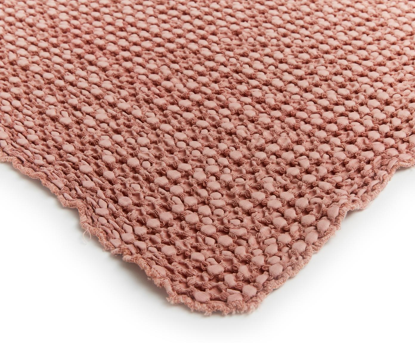 Tagesdecke Vigo mit strukturierter Oberfläche, 100% Baumwolle, Helles Rosa, 220 x 240 cm