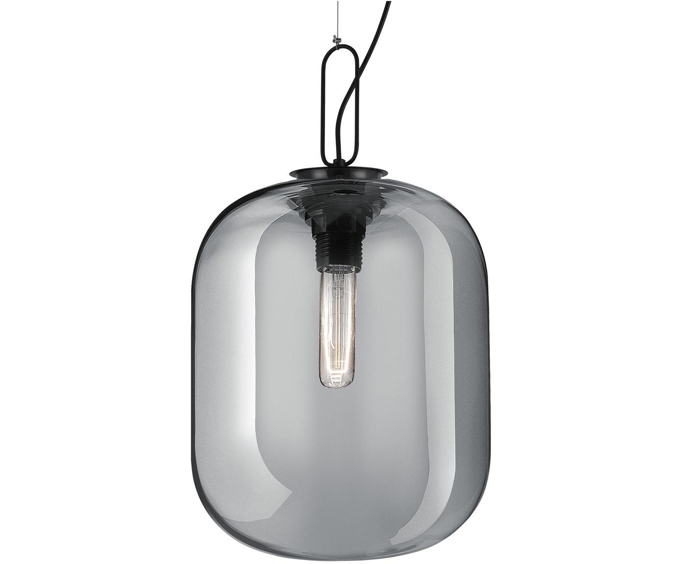 Lampada a sospensione Hunter, Paralume: vetro, Grigio, Ø 25 x Alt. 30 cm