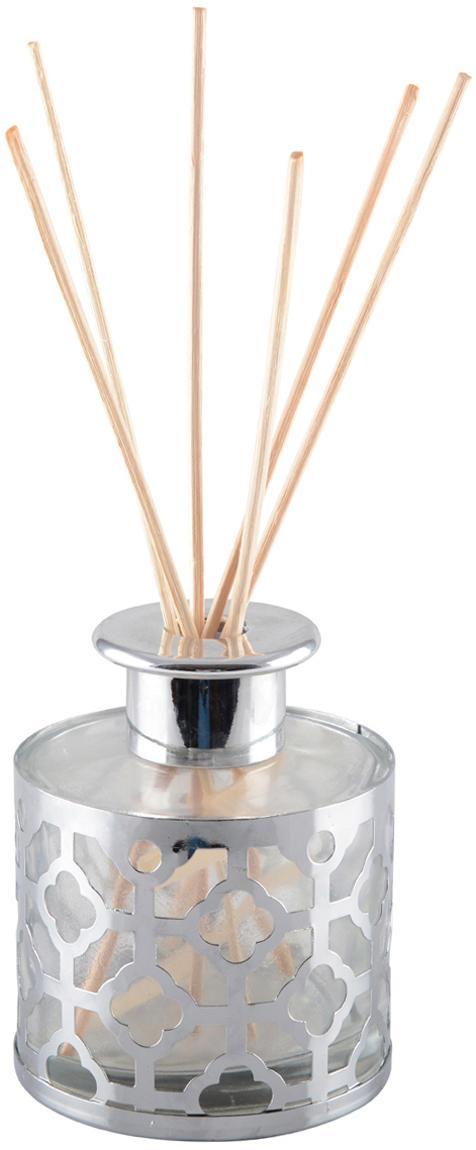 Ambientador Helion (vainilla), Metal, vidrio, aceite perfumado, palillos de madera, Plateado, transparente, Ø 9 x Al 24 cm