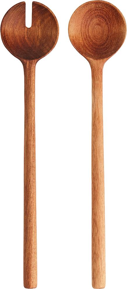 Komplet sztućców do sałatek z drewna akacjowego Matera, 2 elem., Drewno akacjowe, Drewno akacjowe, D 29 cm