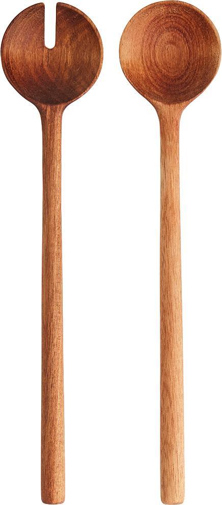 Saladebestekset Matera van acaciahout, 2-delig, Acaciahout, Acaciahout, L 29 cm
