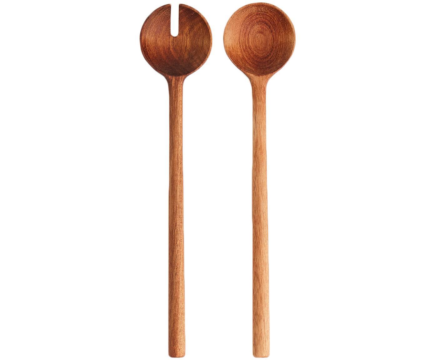 Salatbesteck Matera aus Akazienholz, 2er-Set, Akazienholz, Akazienholz, L 29 cm