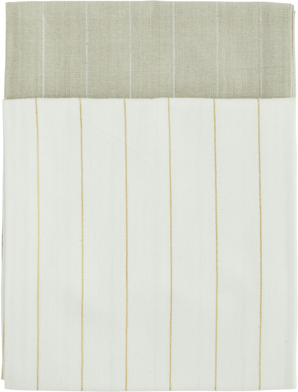 Geschirrtücher Lines mit silber- und goldfarbenen Linien, 4er-Set, 100% Baumwolle, Lurexfaden, Beige, Creme, 50 x 70 cm