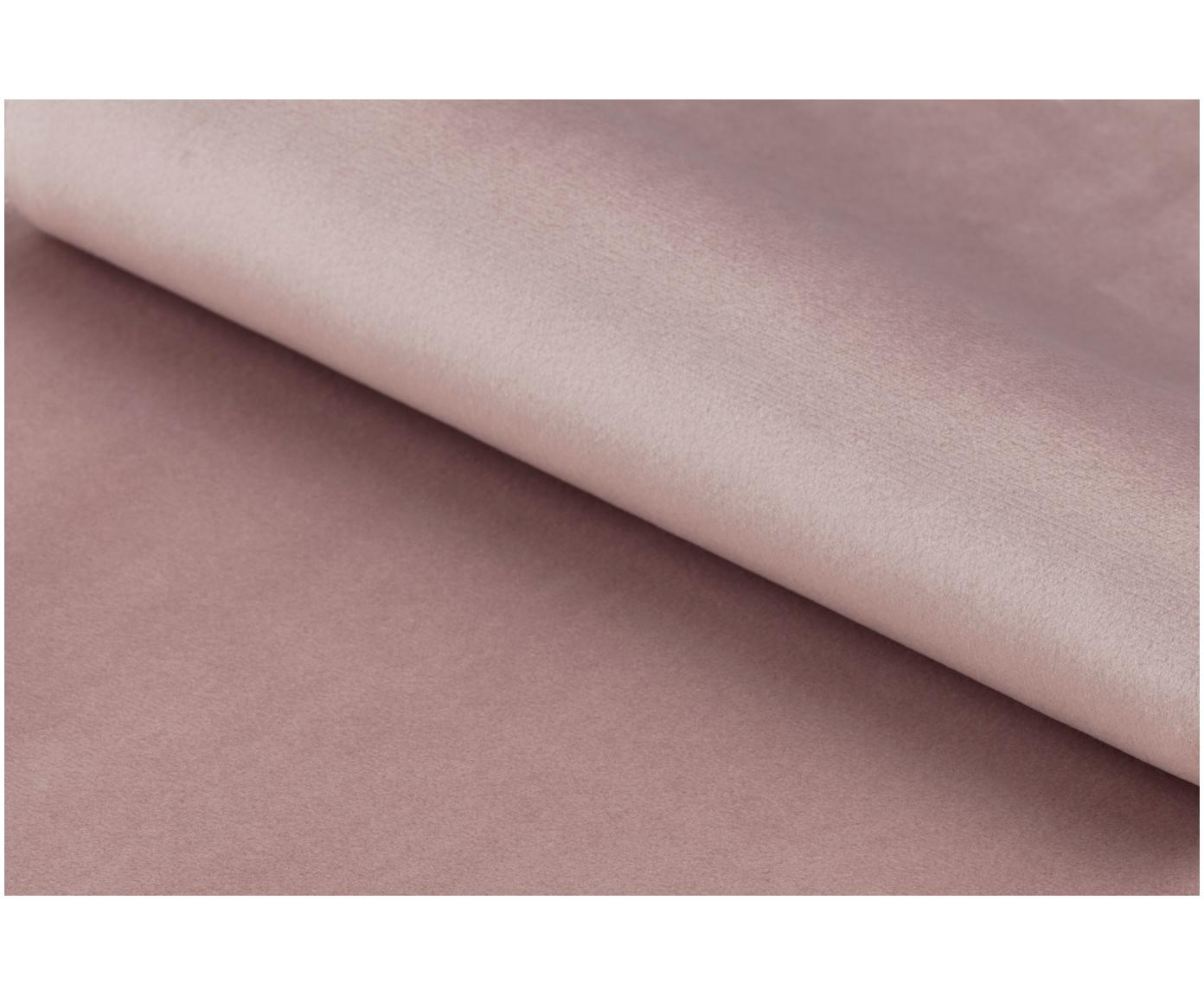 Fotel koktajlowy z aksamitu Ramsey, Tapicerka: aksamit poliestrowy 2500, Nogi: metal lakierowany, Aksamitny blady różowy, S 72 x G 67 cm
