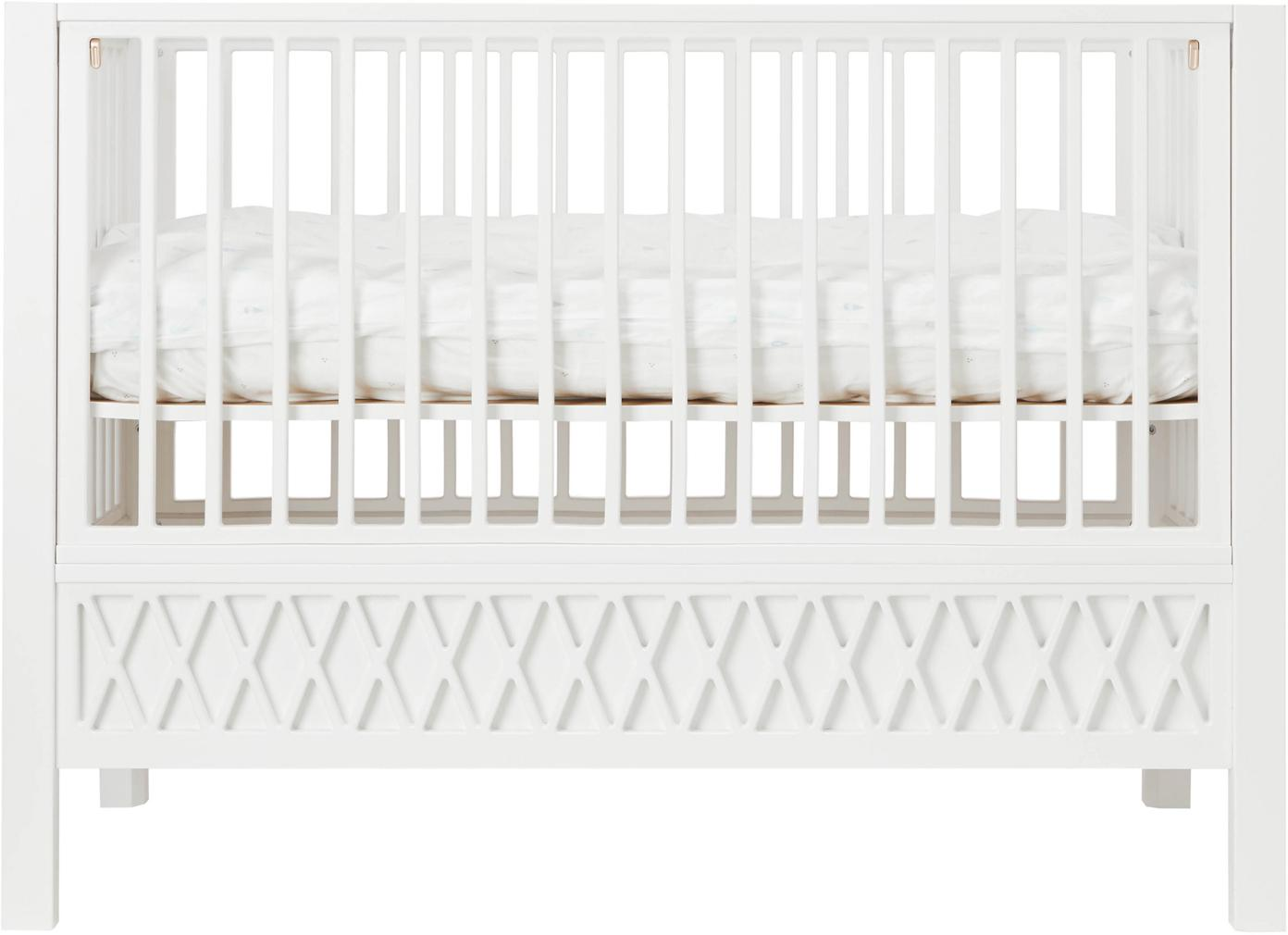 Baby-Bett Harlequin, Holz, beschichtet, Weiss, 72 x 132 cm