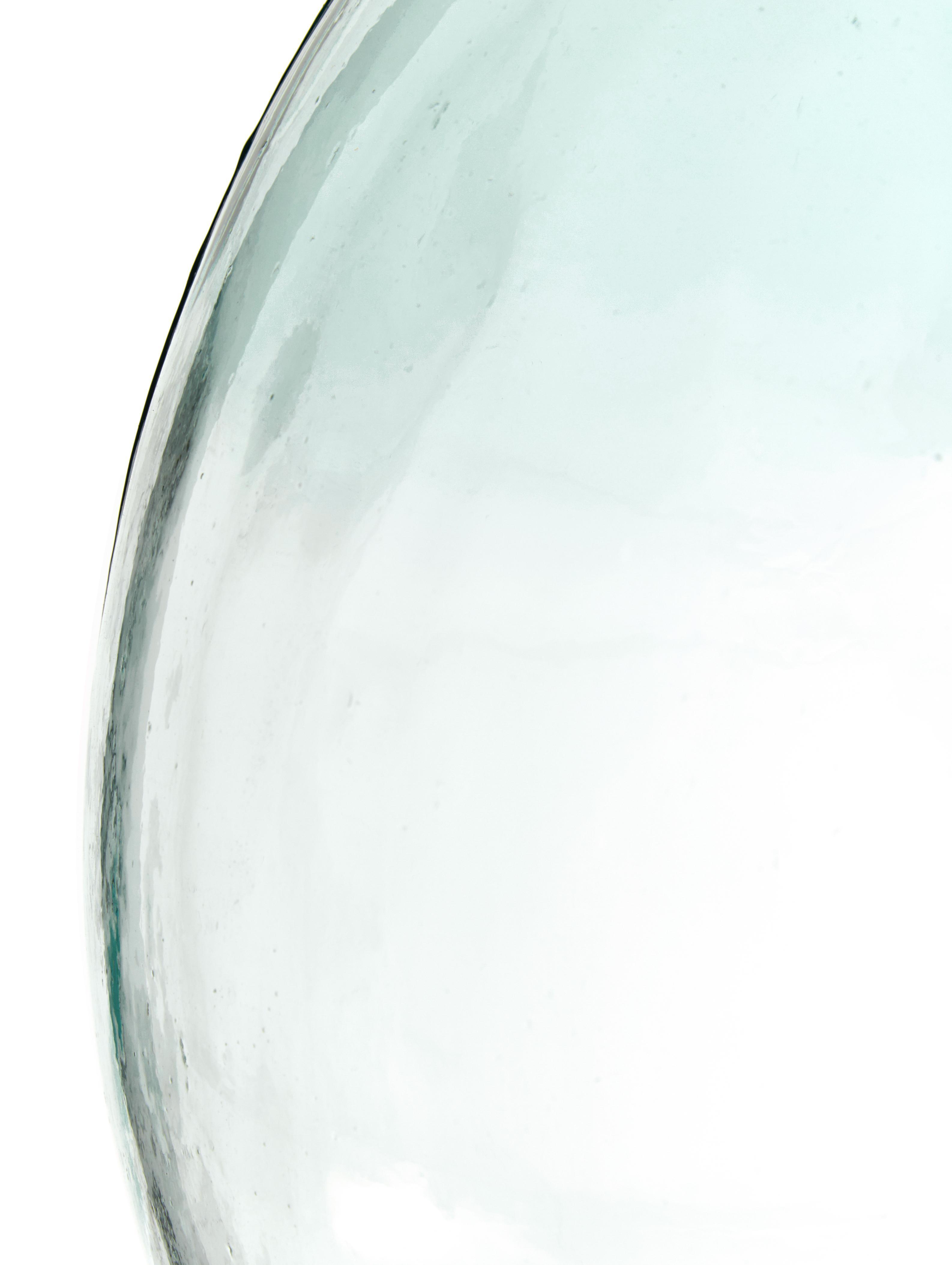 Vaso da pavimento in vetro riciclato Mikkel, Vetro riciclato, Azzurro, Alt. 56 cm