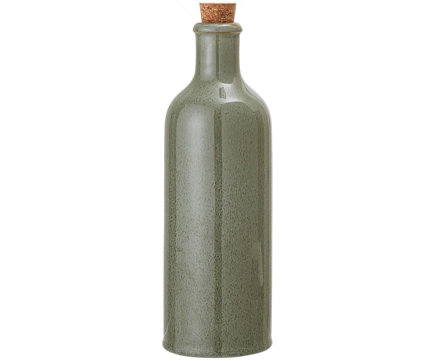 Karafka na ocet i olej Pixie, Odcienie zielonego, Ø 8 x W 25 cm