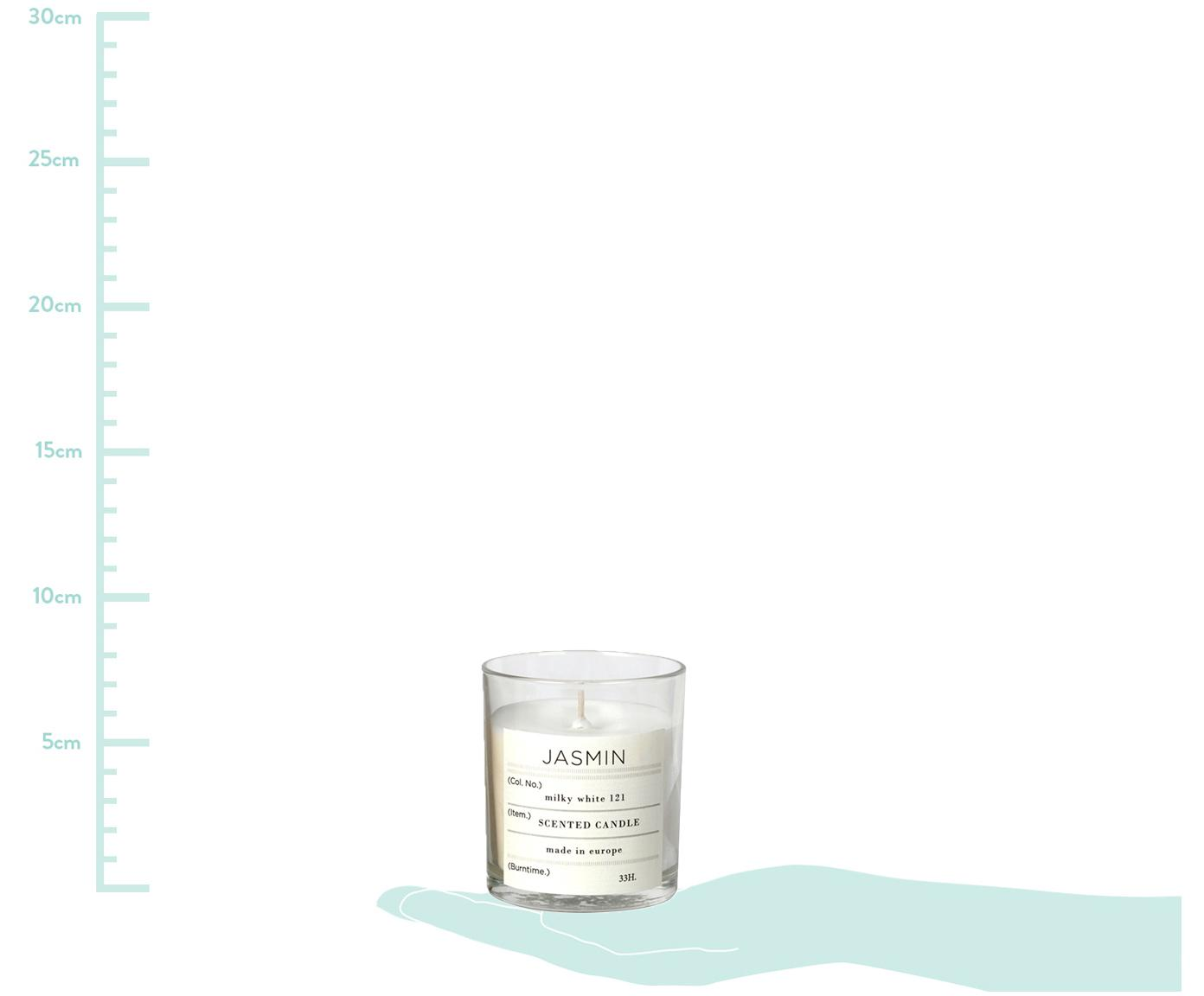 Vela perfumada Isabella (higo), Cera de soja natural, vidrio, Transparente, Al 8 cm