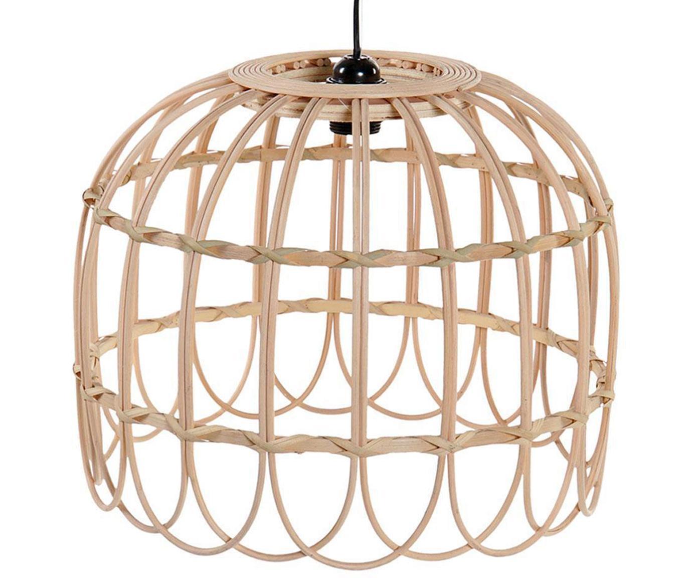 Lámpara de techo Toffi, Pantalla: bambú, Beige, Ø 40 x Al 35 cm
