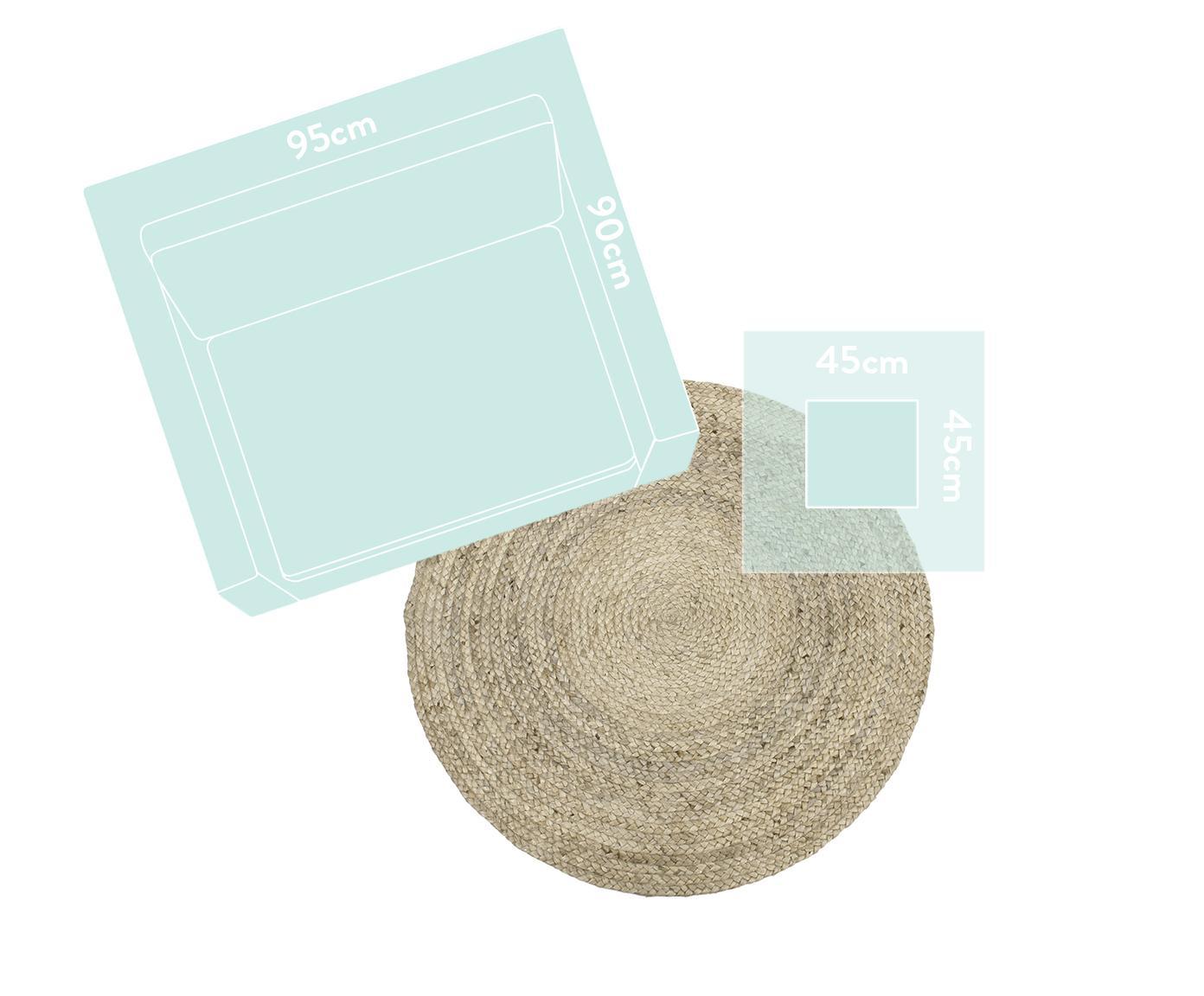 Okrągły ręcznie tkany dywan z juty Sharmila, Beżowy, ∅ 140ccm (Rozmiar M)