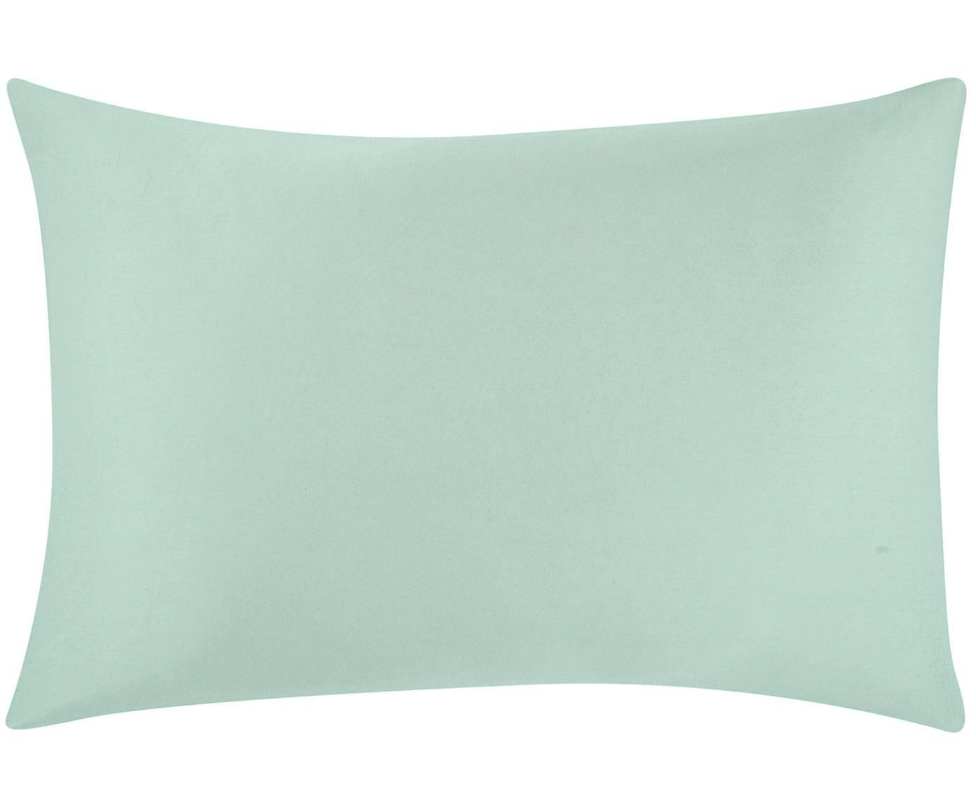 Funda de almohada de satén Comfort, Verde salvia, An 50 x L 70 cm