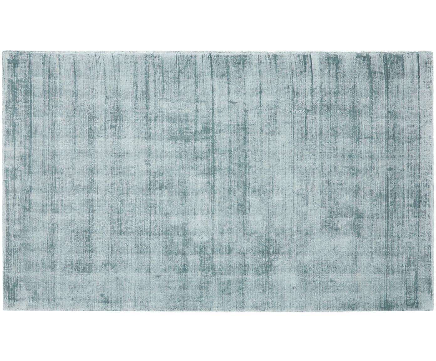 Ręcznie tkany dywan z wiskozy Jane, Chłodny niebieski, S 90 x D 150 cm (Rozmiar XS)