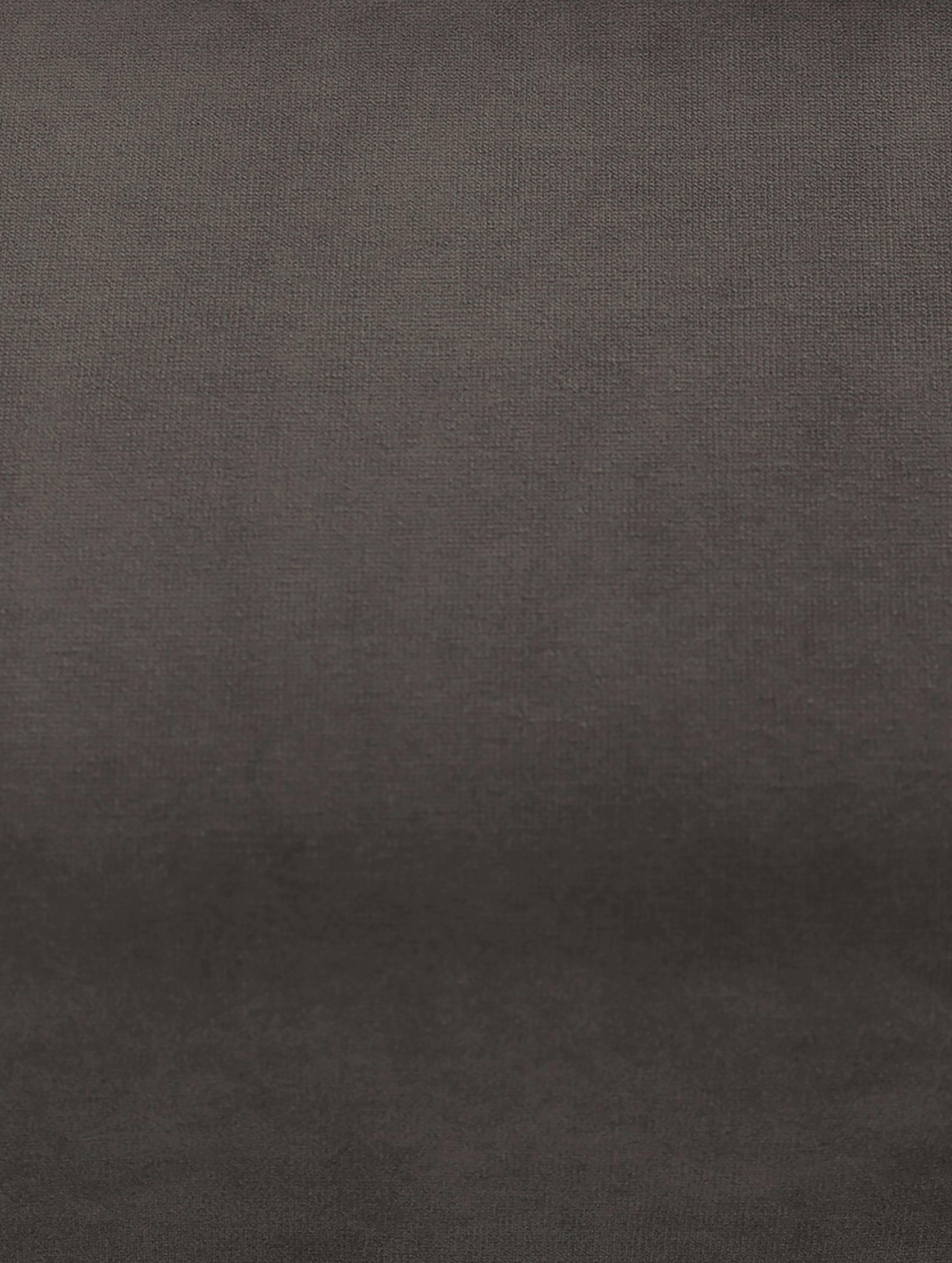 Divano 2 posti in velluto grigio marrone Moby, Rivestimento: velluto (copertura in pol, Struttura: legno di pino massiccio, Piedini: metallo, verniciato a pol, Velluto grigio marrone, Larg. 170 x Prof. 95 cm