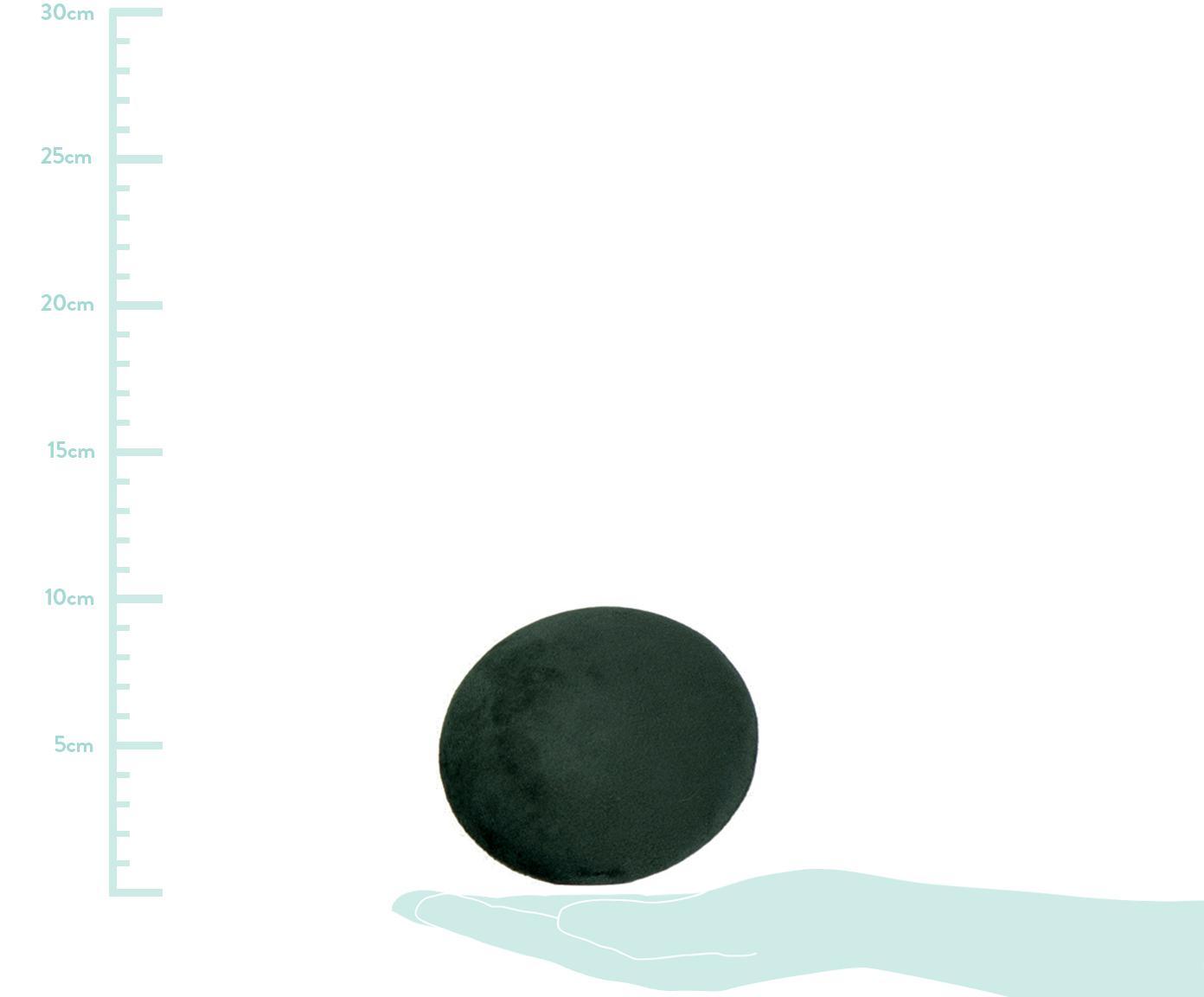 Samt-Haken-Set Giza, 3-tlg., Front: Samt, Dunkelgrün, Messingfarben, Sondergrößen