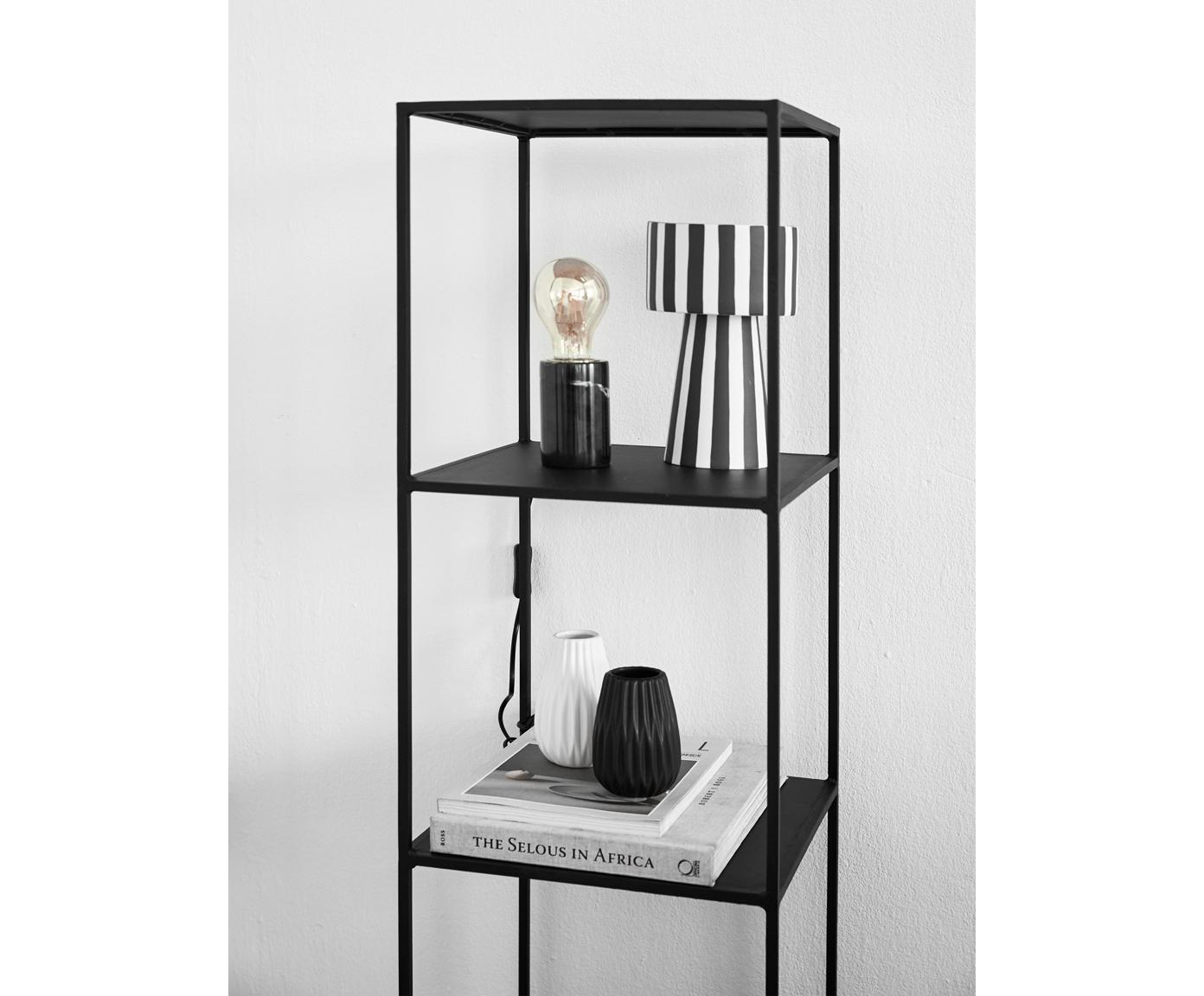 Ręcznie wykonana osłonka na doniczkę Toppu, Ceramika, Biały, czarny, Ø 15 x W 24 cm