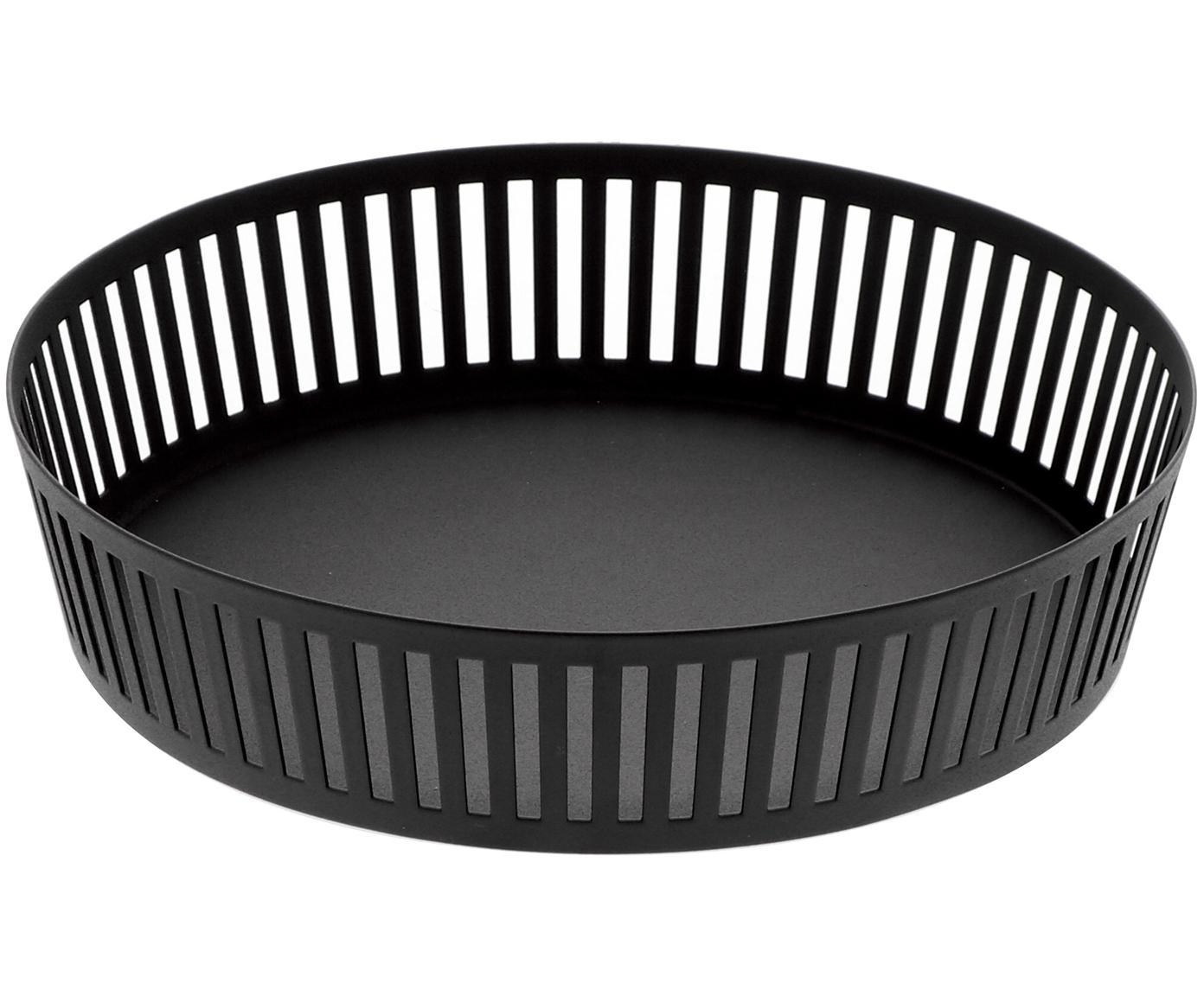 Opbergmand Tower in zwart, Gecoat staal, Zwart, Ø 25 x H 5 cm