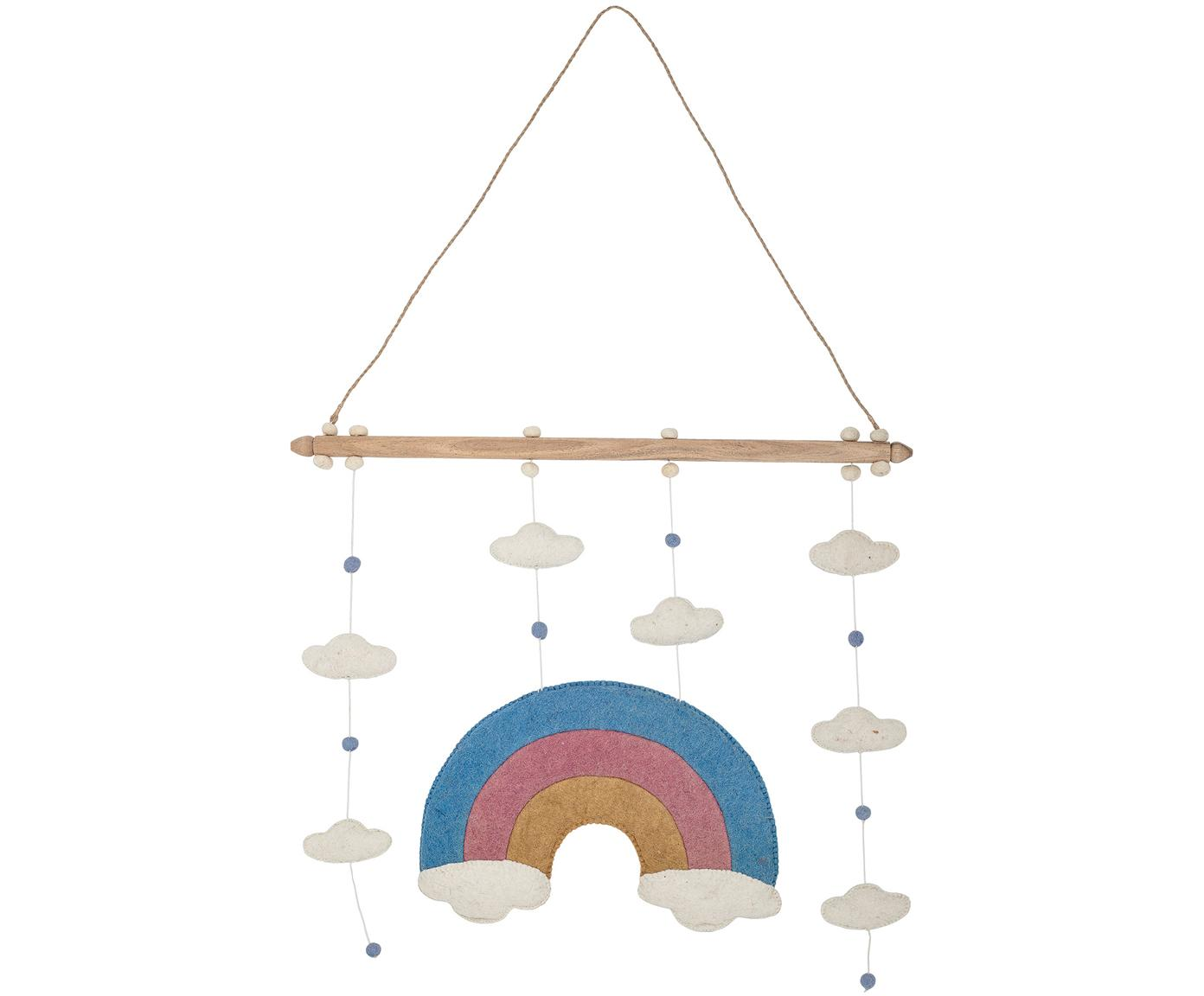 Móvil bebé Rainbow, Fieltro de lana, poliéster, Multicolor, An 57 x Al 90 cm
