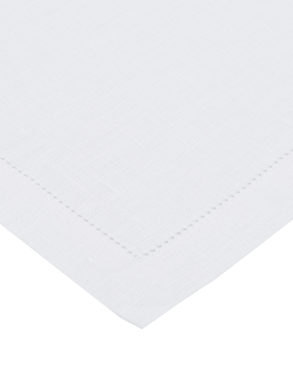Sevilletas de lino Alanta, 6uds., Blanco nieve, An 42 x L 42 cm