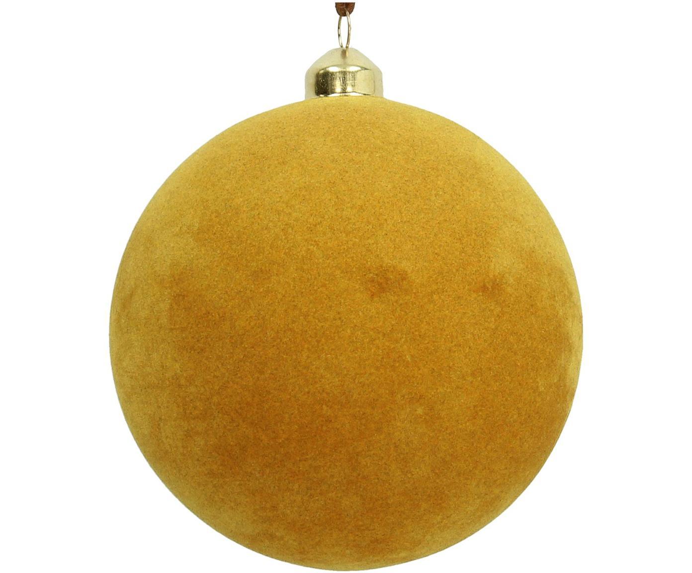 Bolas de Navidad Elvien, 4 uds., Amarillo, Ø 12 cm
