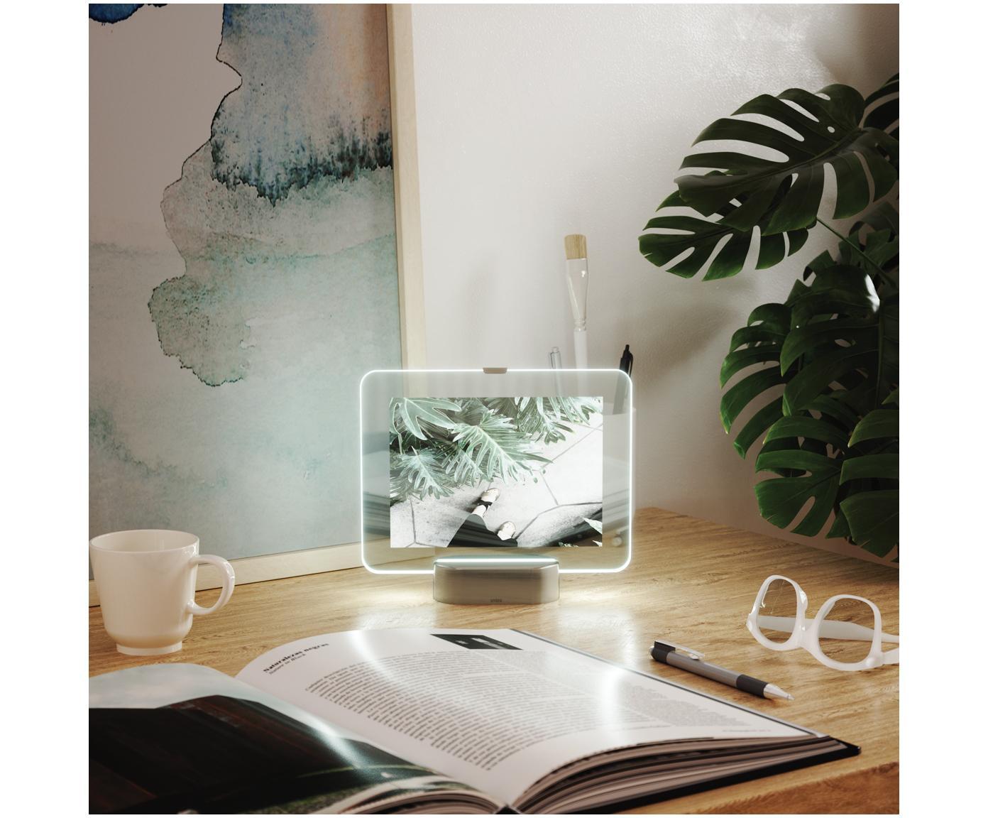 Ramka na zdjęcia LED Glo, Odcienie niklu, 13 x 18 cm
