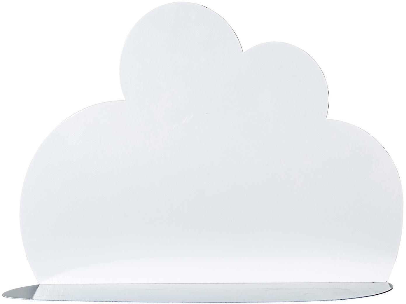 Półka ścienna Cloud, Metal lakierowany, Biały, S 40 x W 30 cm