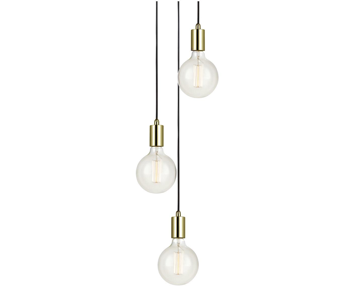 Lampada a sospensione in ottone Sky, Metallo ottonato, Ottone, Ø 25 x Alt. 150 cm