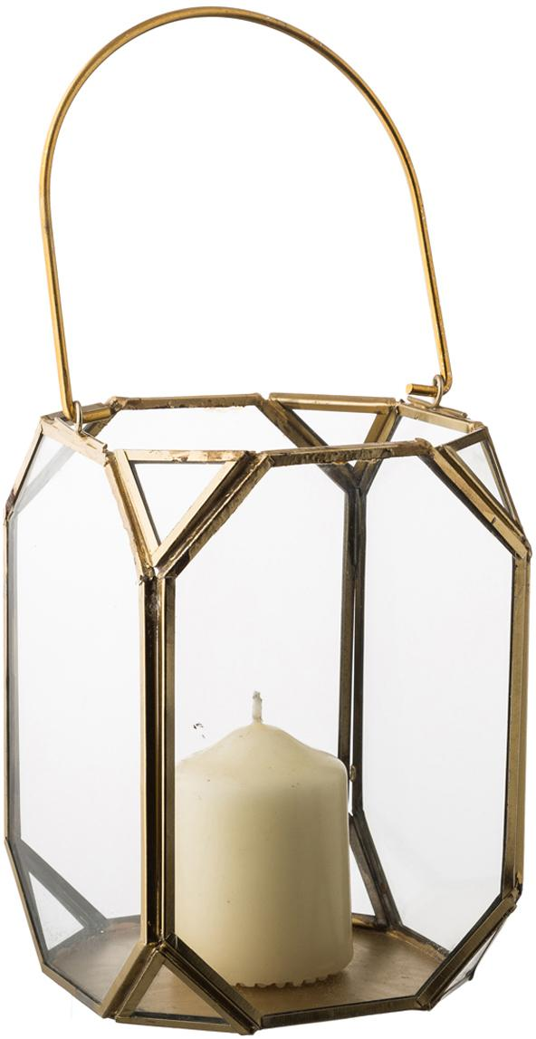Farolillo Ginny, Estructura: metal, recubierto, Latón, An 11 x Al 15 cm