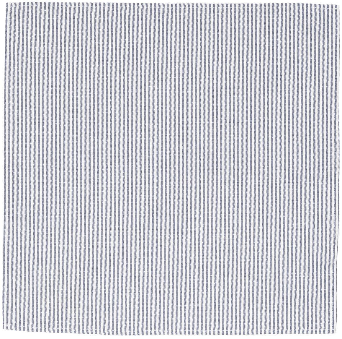 Tovagliolo in mezzo lino Streifen, Bianco, blu, Larg. 45 x Lung. 45 cm