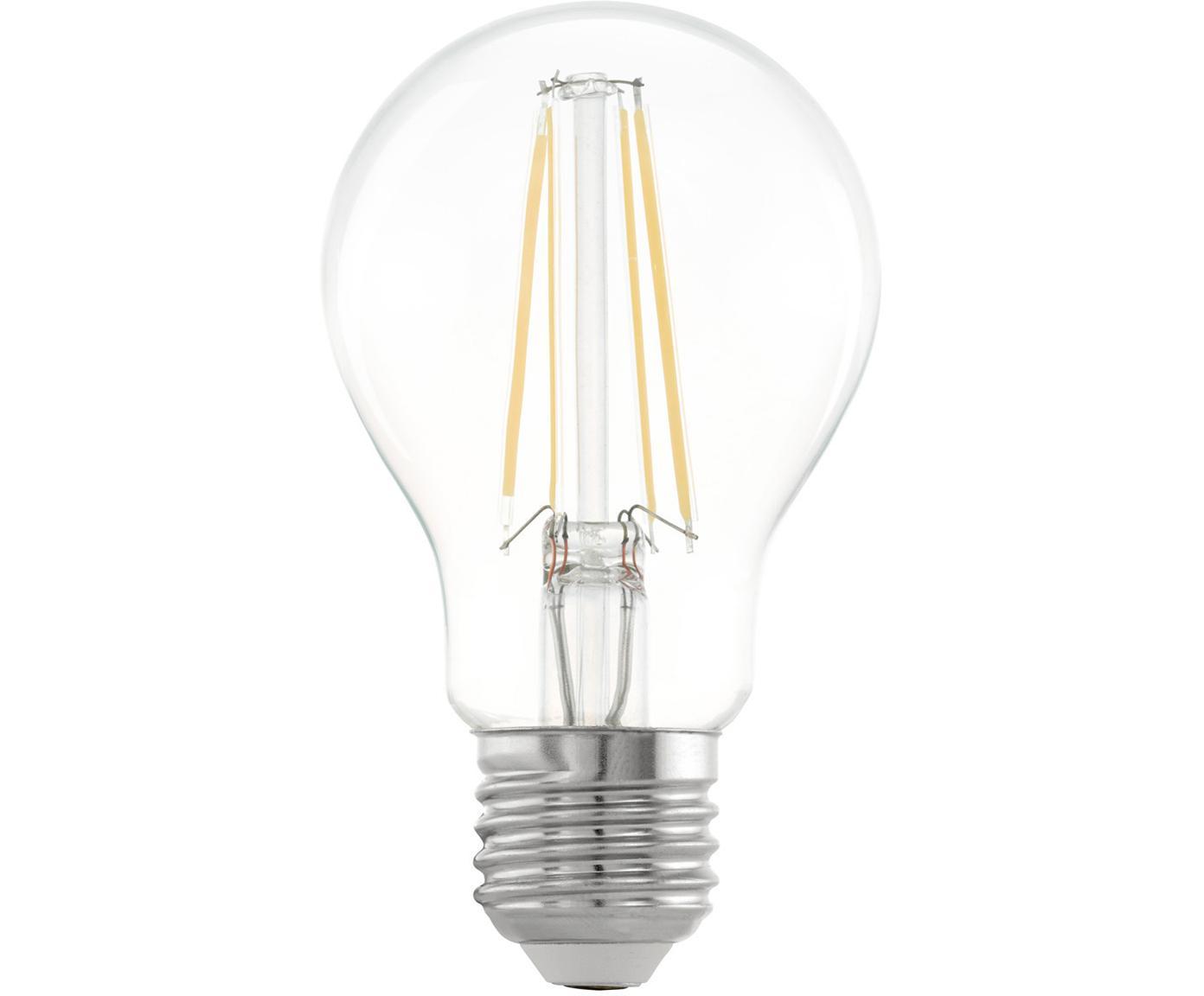 LED lamp Cord (E27 / 6W) 5 stuks, Peertje: glas, Fitting: aluminium, Transparant, Ø 6 x H 10 cm