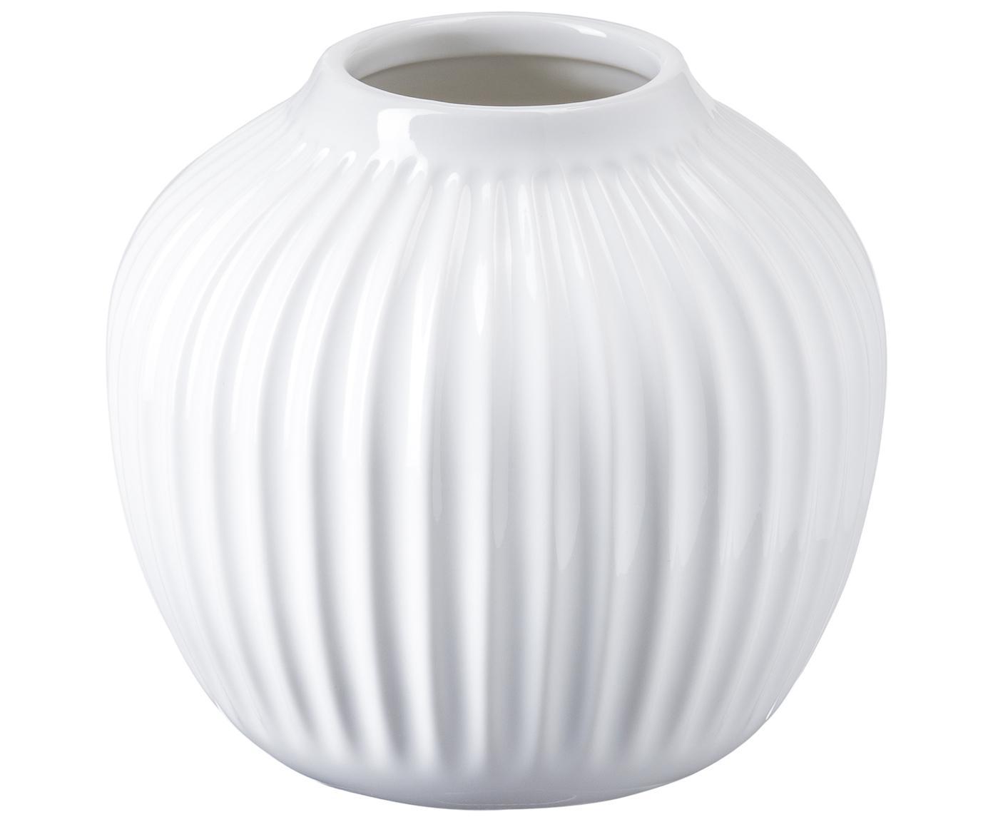 Mały ręcznie wykonany wazon Hammershøi, Porcelana, Biały, Ø 14 x W 13 cm