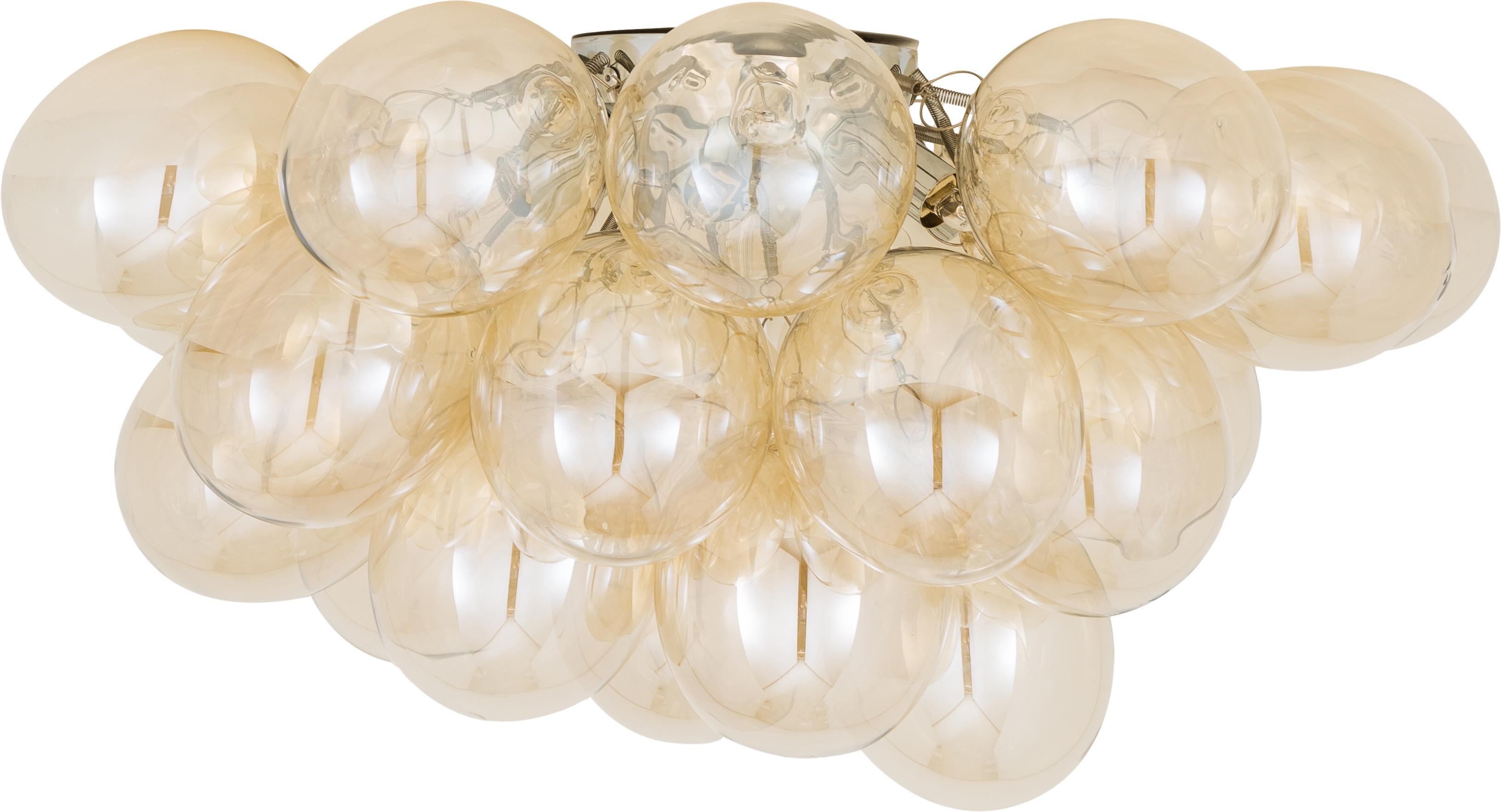 Plafoniera con sfere di vetro Gross, Ambra, Ø 50 x Alt. 27 cm