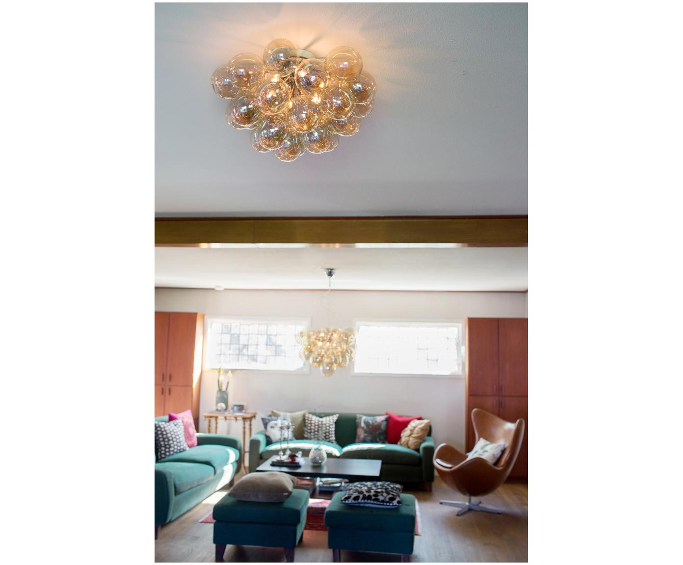 Lampa sufitowa Gross, Odcienie bursztynowego, Ø 50 x W 27 cm