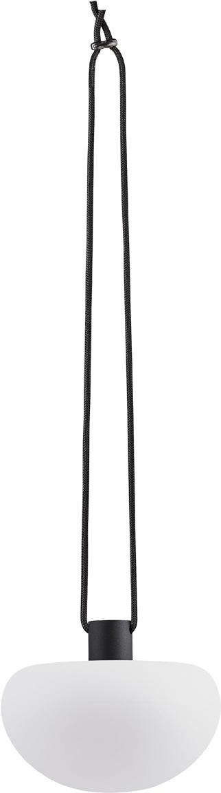 Zewnętrzna lampa wisząca LED Sponge, Tworzywo sztuczne (PVC), Biały, czarny, Ø 20 x W 55 cm
