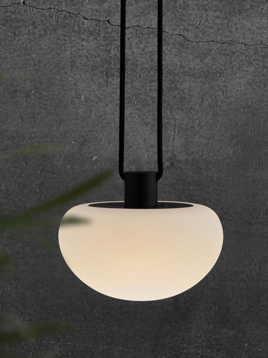 Dimmbare LED Aussenpendelleuchte Sponge, Kunststoff (PVC), Weiss, Schwarz, Ø 20 x H 16 cm