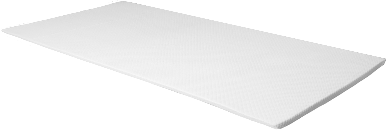 Viscoelastische Memory-Foam Matratzenauflage Premium, Bezug: 60% Polyester, 40% Viskos, Weiß, 140 x 200 cm