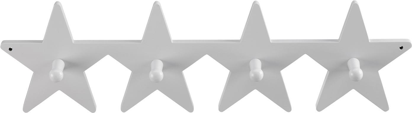 Wandgarderobe Star, Holz, Grau, 50 x 12 cm