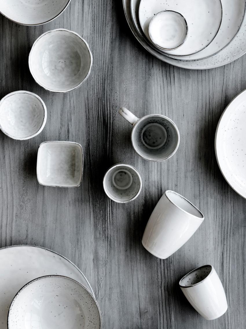 Set da colazione fatto a mano Nordic Sand 12 pz, Terracotta, Beige, Diverse dimensioni