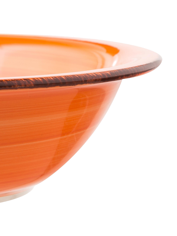Set 18 piatti per 6 persone Baita, Terracotta (Hard Dolomite), dipinto a mano, Giallo, lilla, turchese, arancione, rosso, verde, Diverse dimensioni