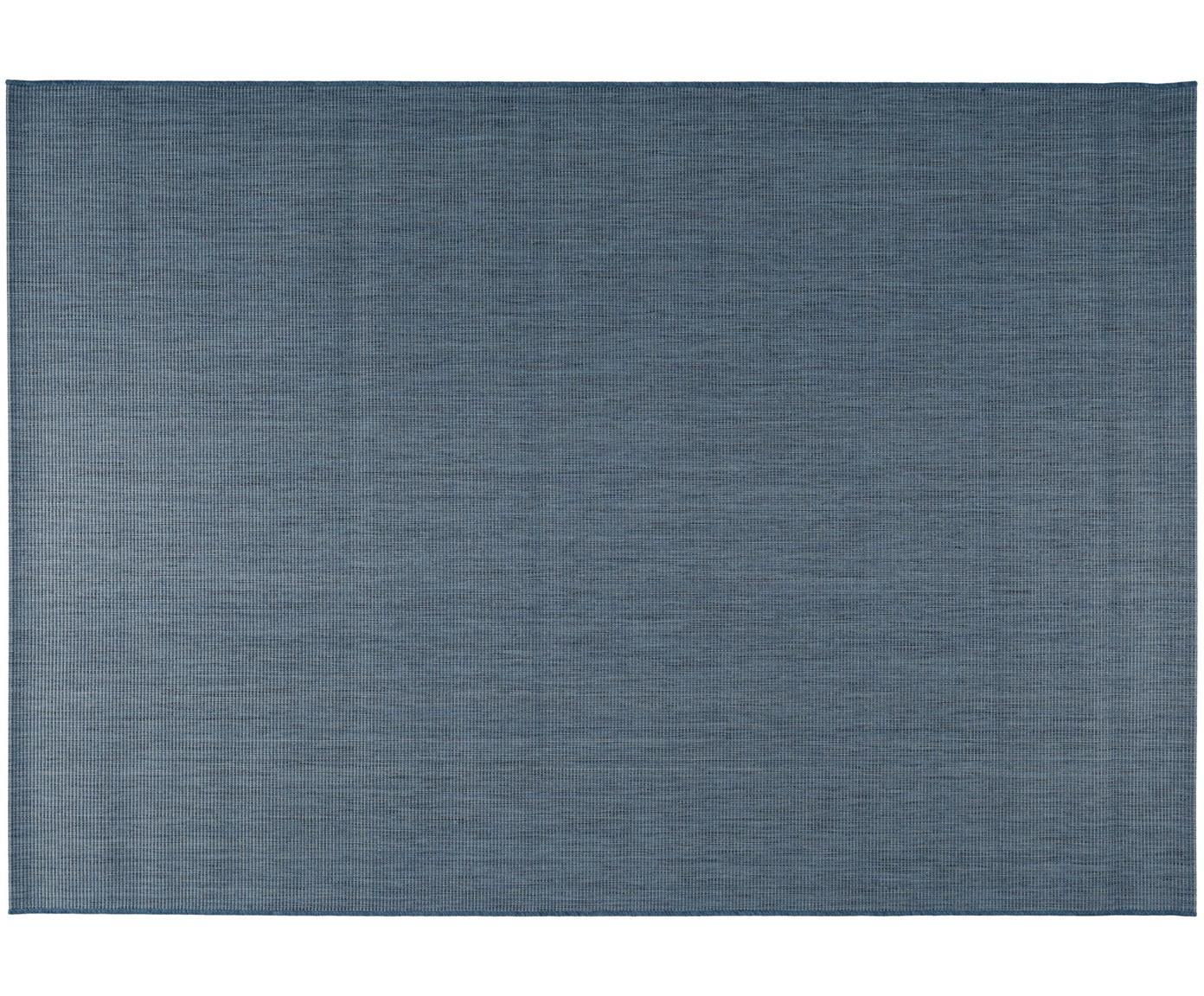 In- & outdoor vloerkleed Metro Needle, Polypropyleen, Blauw, B 120 x L 170 cm (maat S)