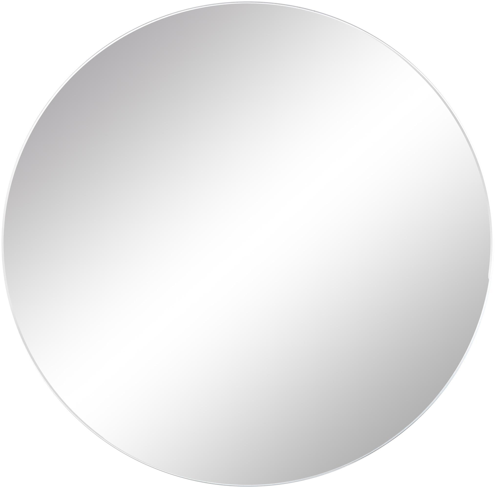 Rahmenloser Wandspiegel Erin, Spiegelfläche: Spiegelglas, Rückseite: Mitteldichte Holzfaserpla, Spiegelfläche: SpiegelglasSpiegelaussenkante: Schwarz, Ø 40 cm