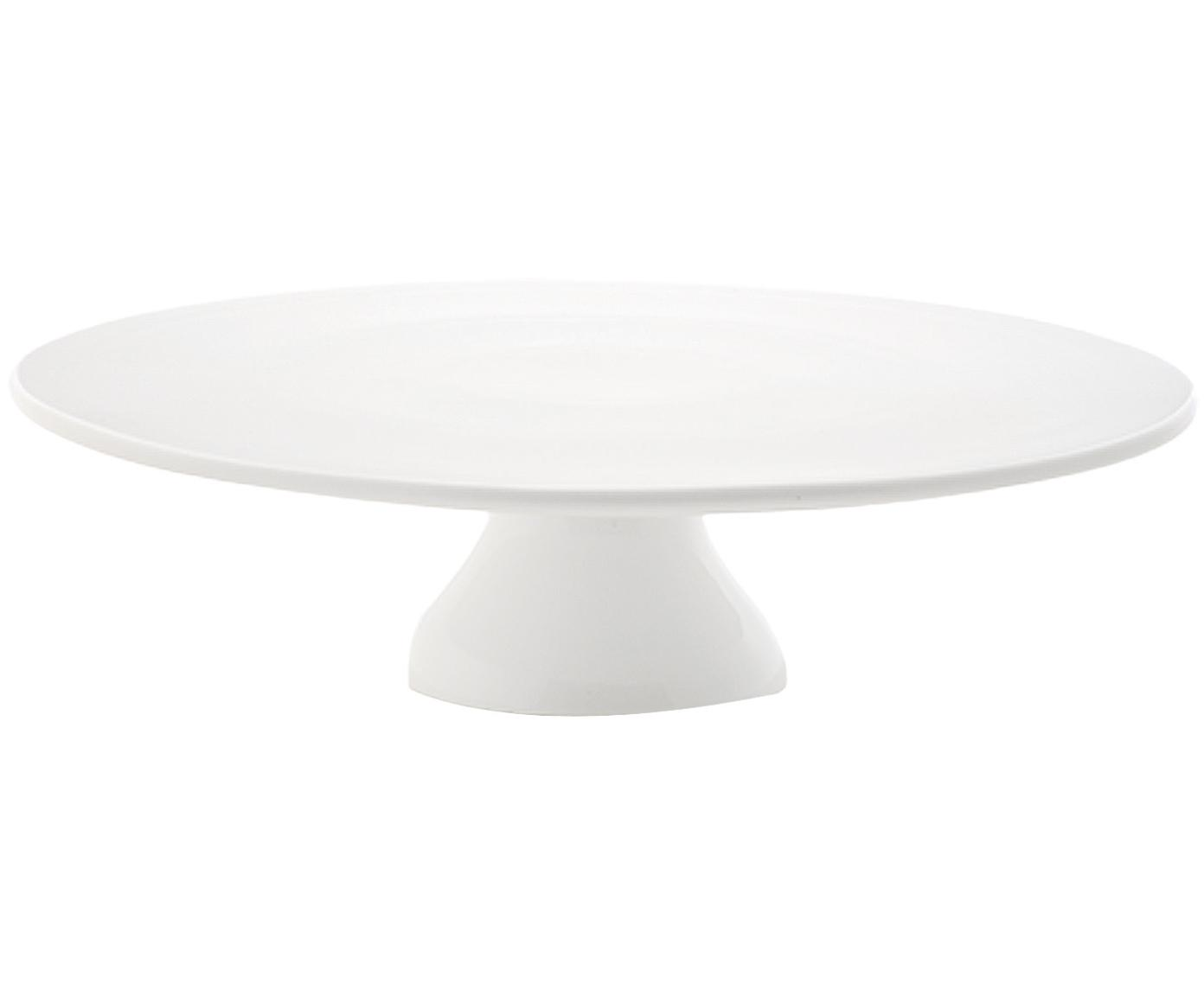 Fuente para postre Yanis, Porcelana, Blanco, Ø 33 cm
