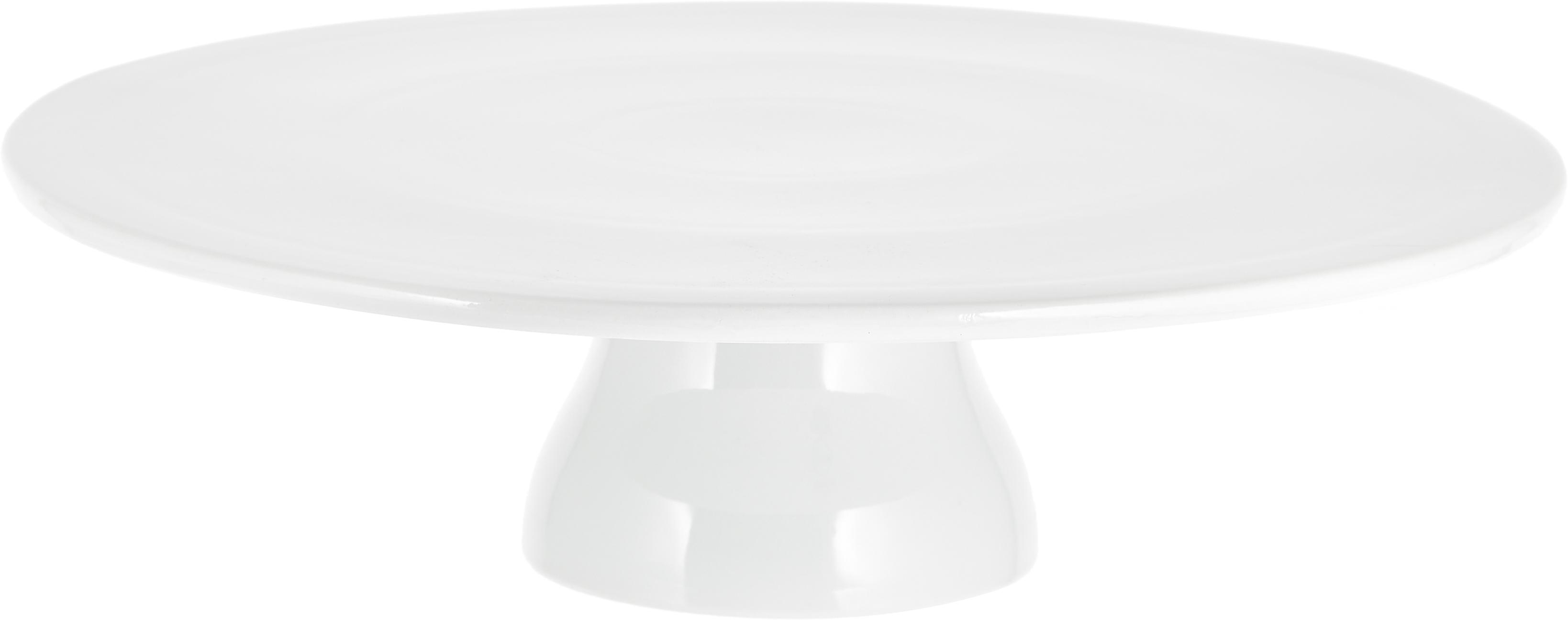 Tortenplatte Yanis, Porzellan, Weiß, Ø 33 cm