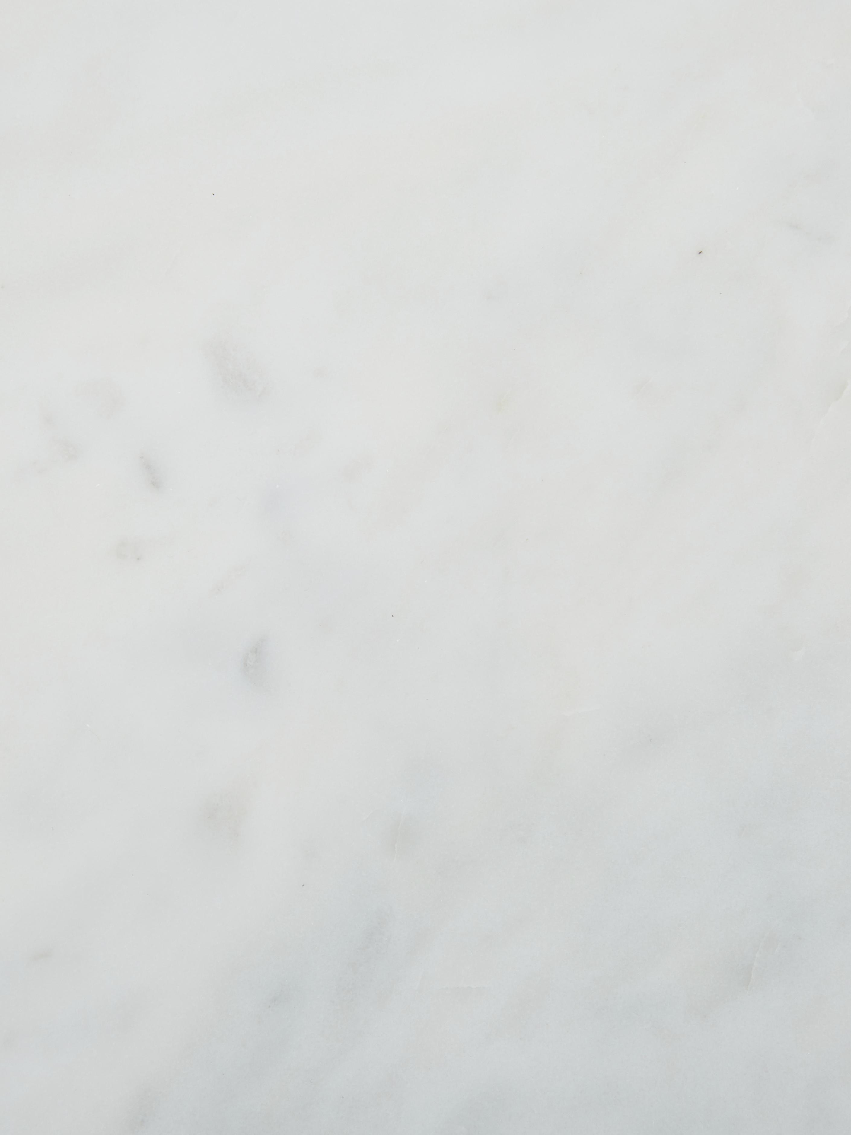 Tavolino rotondo con piano in marmo Ella, Struttura: metallo verniciato a polv, Piano d'appoggio: marmo bianco Struttura: nero opaco, Ø 40 x Alt. 50 cm