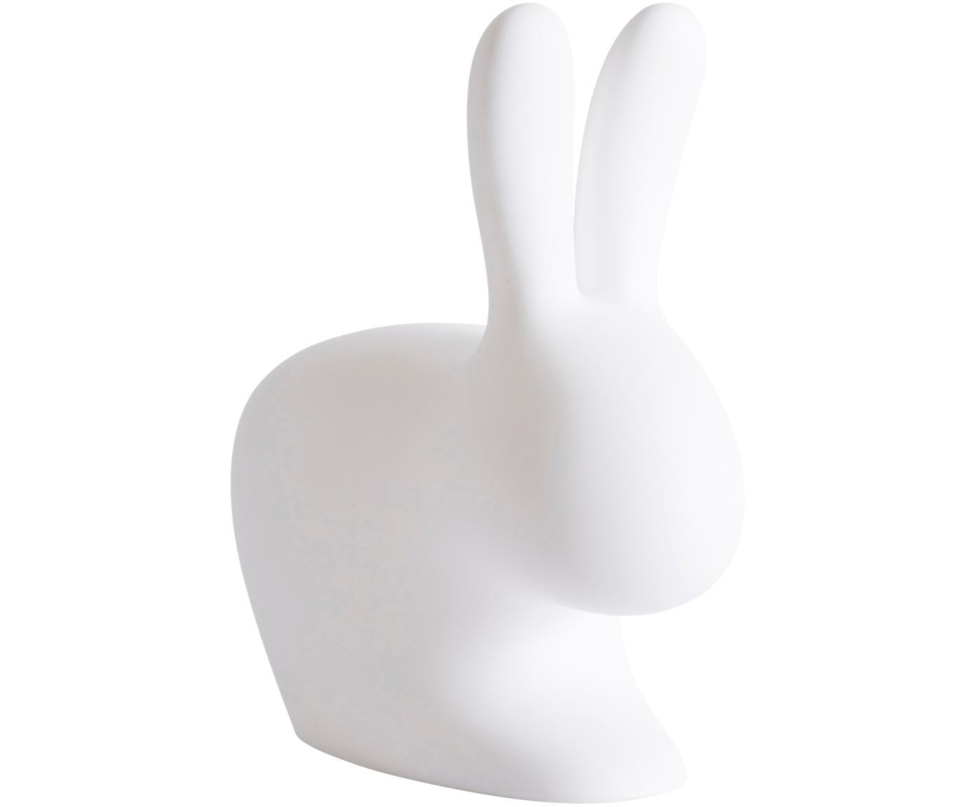 Lampada da terra coniglietto Rabbit, Materiale sintetico (polietilene), Bianco, Larg. 46 x Alt. 53 cm